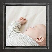 Faire-part de naissance Petite ardoise (triptyque) étoiles noir page 4
