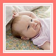 Faire-part de naissance Petites rayures (triptyque) corail page 4