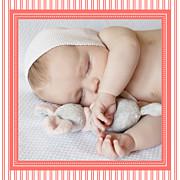 Faire-part de naissance Petites rayures (triptyque) corail page 5