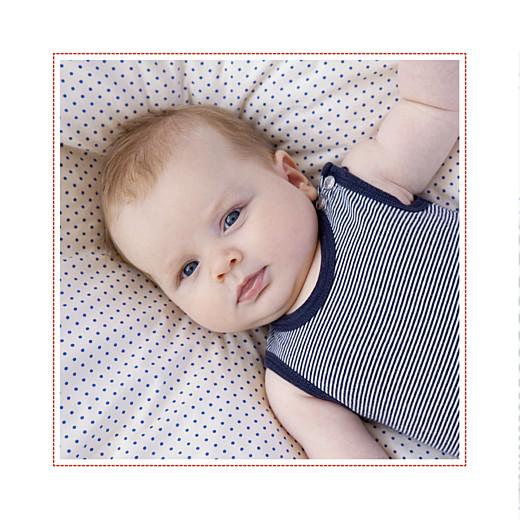 Faire-part de naissance Matelot photo (4 pages) rouge & bleu