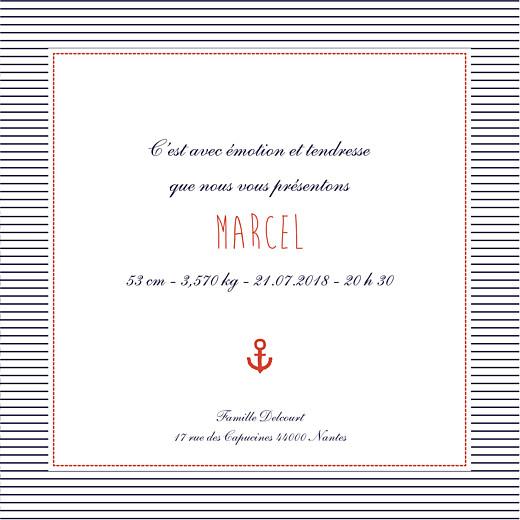 Faire-part de naissance Matelot photo (4 pages) rouge & bleu - Page 3