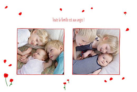 Faire-part de naissance Coquelicots (4 pages) rouge - Page 3
