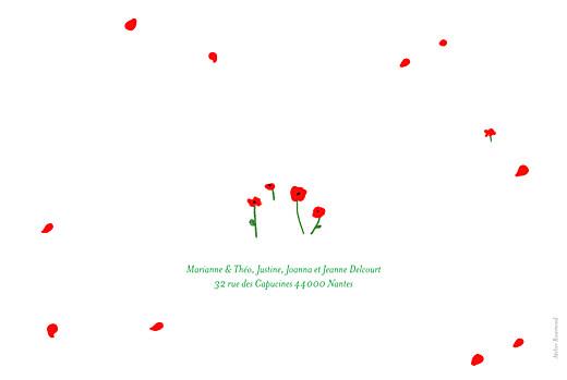 Faire-part de naissance Coquelicots (4 pages) rouge - Page 4