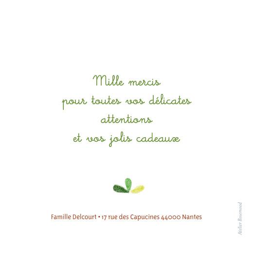 Carte de remerciement Petit arbre vert - Page 2