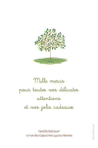 Carte de remerciement Petit arbre photo vert