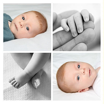 simple 4 photos faire part de naissance. Black Bedroom Furniture Sets. Home Design Ideas