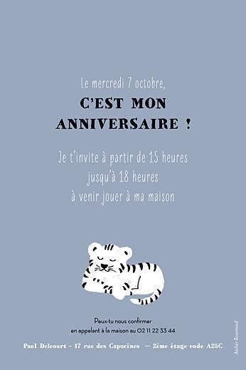 Carte d'anniversaire Bigre un tigre gris & blanc - Page 2