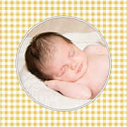 Faire-part de naissance Petit vichy (triptyque) ocre page 3