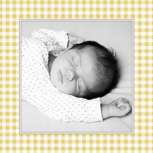 Faire-part de naissance Petit vichy (triptyque) ocre - Page 4