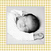 Faire-part de naissance Petit vichy (triptyque) ocre page 4