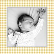 Faire-part de naissance Petit vichy (triptyque) ocre page 6