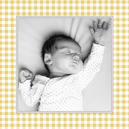 Faire-part de naissance Petit vichy (triptyque) ocre - Page 6