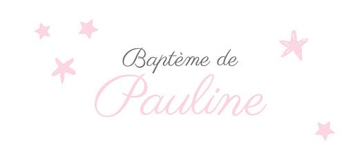 Etiquette de baptême Nuit étoilée gris rose