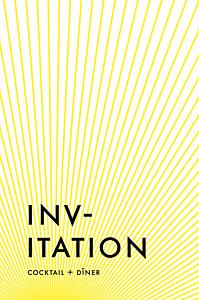 Carton d'invitation mariage Sunlight jaune