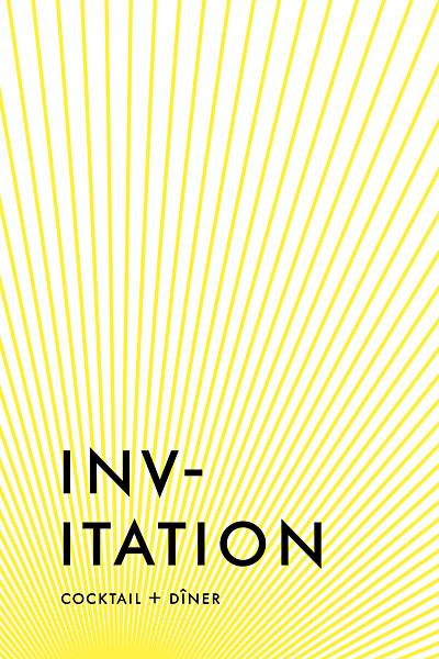 Carton d'invitation mariage Sunlight jaune finition