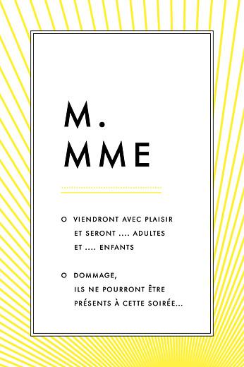 Carton réponse mariage Sunlight jaune - Page 2