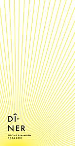 Menu de mariage Sunlight jaune
