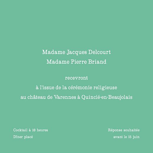 Carton d'invitation mariage Chic médaillon vert