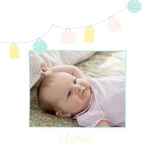 Faire-part de naissance Lampions pastel