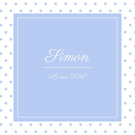 Faire-part de naissance Classique chic (triptyque) bleuet