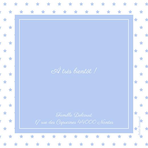 Faire-part de naissance Classique chic (triptyque) bleuet - Page 3