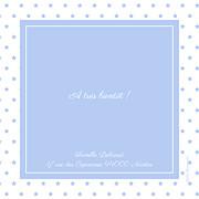 Faire-part de naissance Classique chic (triptyque) bleuet page 3