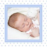 Faire-part de naissance Classique chic (triptyque) bleuet page 5