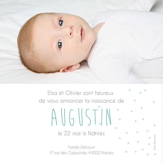 Faire-part de naissance Lovely boy photo (carré) gris