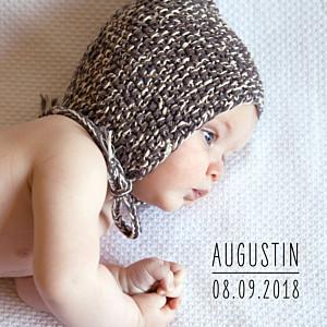 Faire-part de naissance marianne fournigault petit essentiel (triptyque) blanc
