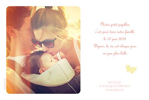 Faire-part de naissance Papillons 4 photos jaune - Page 2