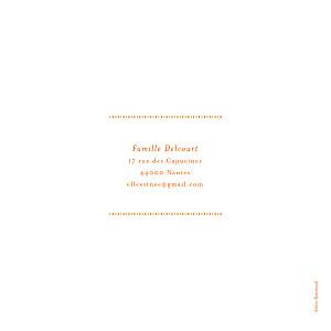 Faire-part de naissance Nomade bilingue orange