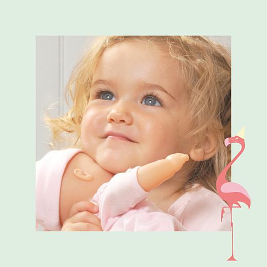 Carte d'anniversaire Corolle petit zeste d'amour jaune & corail - Page 2