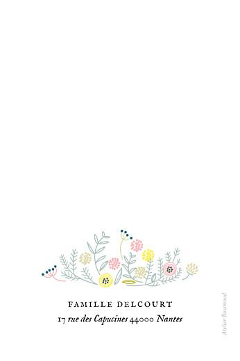 Carte de remerciement Merci douceur champêtre photo blanc