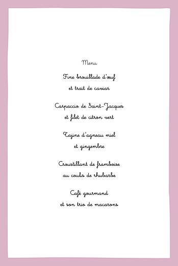 Menu de baptême Coquette rose - Page 3