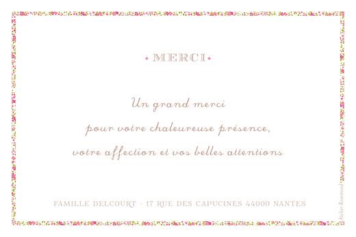 Carte de remerciement Merci croix huguenote rose - Page 2