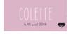 Marque-place Baptême Coquette rose - Page 4