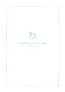 Livret de messe animaux petit cheval bleu clair