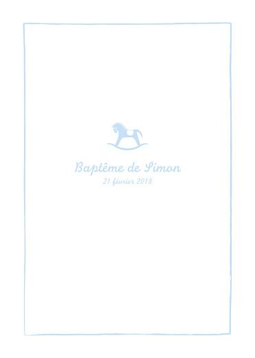 Livret de messe Petit cheval bleu clair