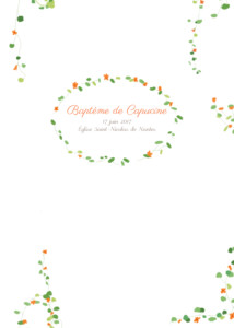 Livret de messe Capucine orange
