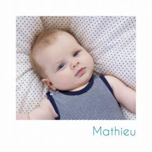 Faire-part de naissance Petit polaroid (triptyque) blanc