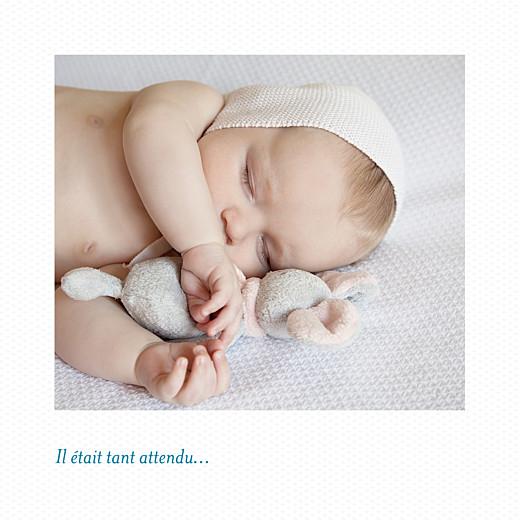 Faire-part de naissance Petit polaroid (triptyque) blanc - Page 2