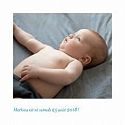 Faire-part de naissance Petit polaroid (triptyque) blanc page 3