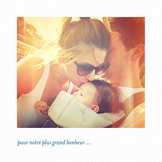Faire-part de naissance Petit polaroid (triptyque) blanc - Page 4