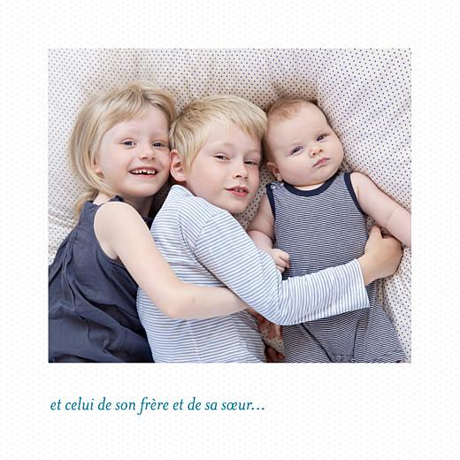 Faire-part de naissance Petit polaroid (triptyque) blanc - Page 5