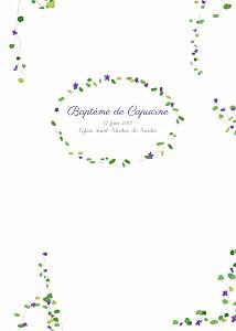 Livret de messe Capucine violet