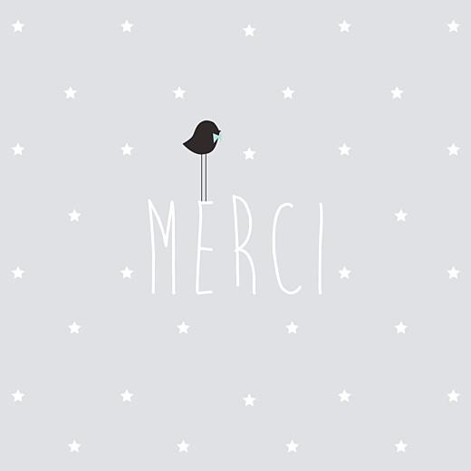 Carte de remerciement Petit lovely boy gris