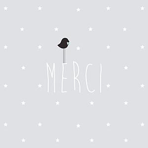 Carte de remerciement Petit lovely boy photo gris