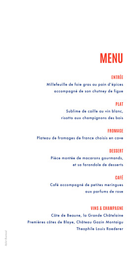 Menu de mariage Marinière bleu marine - Page 2