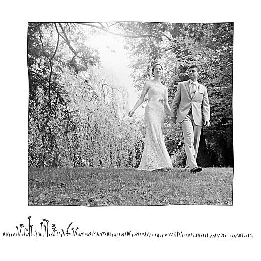 Carte de remerciement mariage Promesse champêtre (5 photos) blanc - Page 3