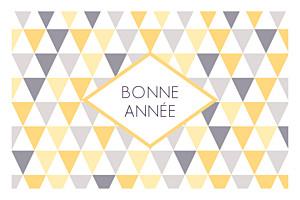Carte de voeux violet petits triangles photo jaune violet